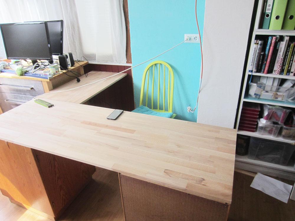 Schreibtisch im Umbau